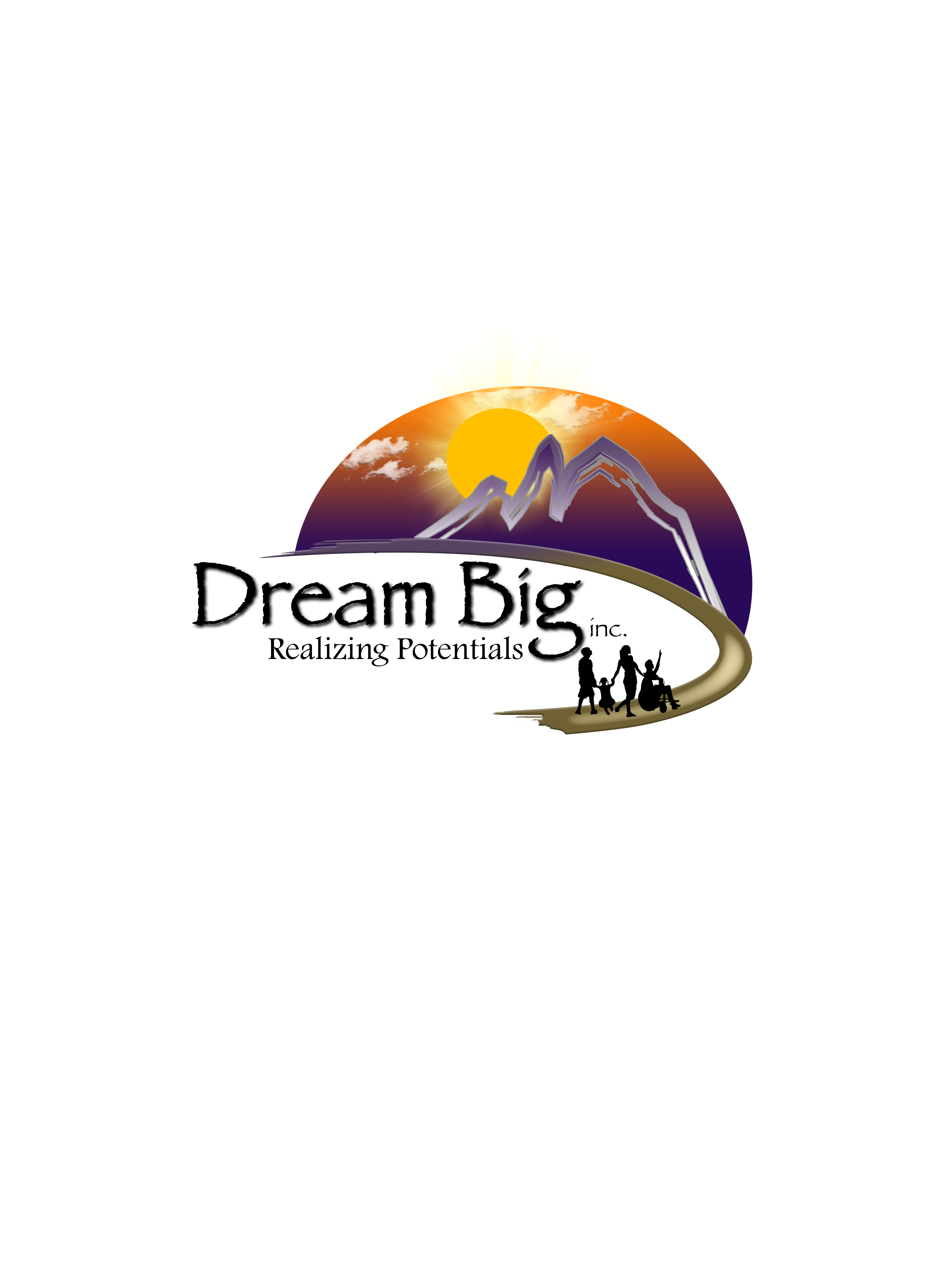 Dream Big Final Logo White