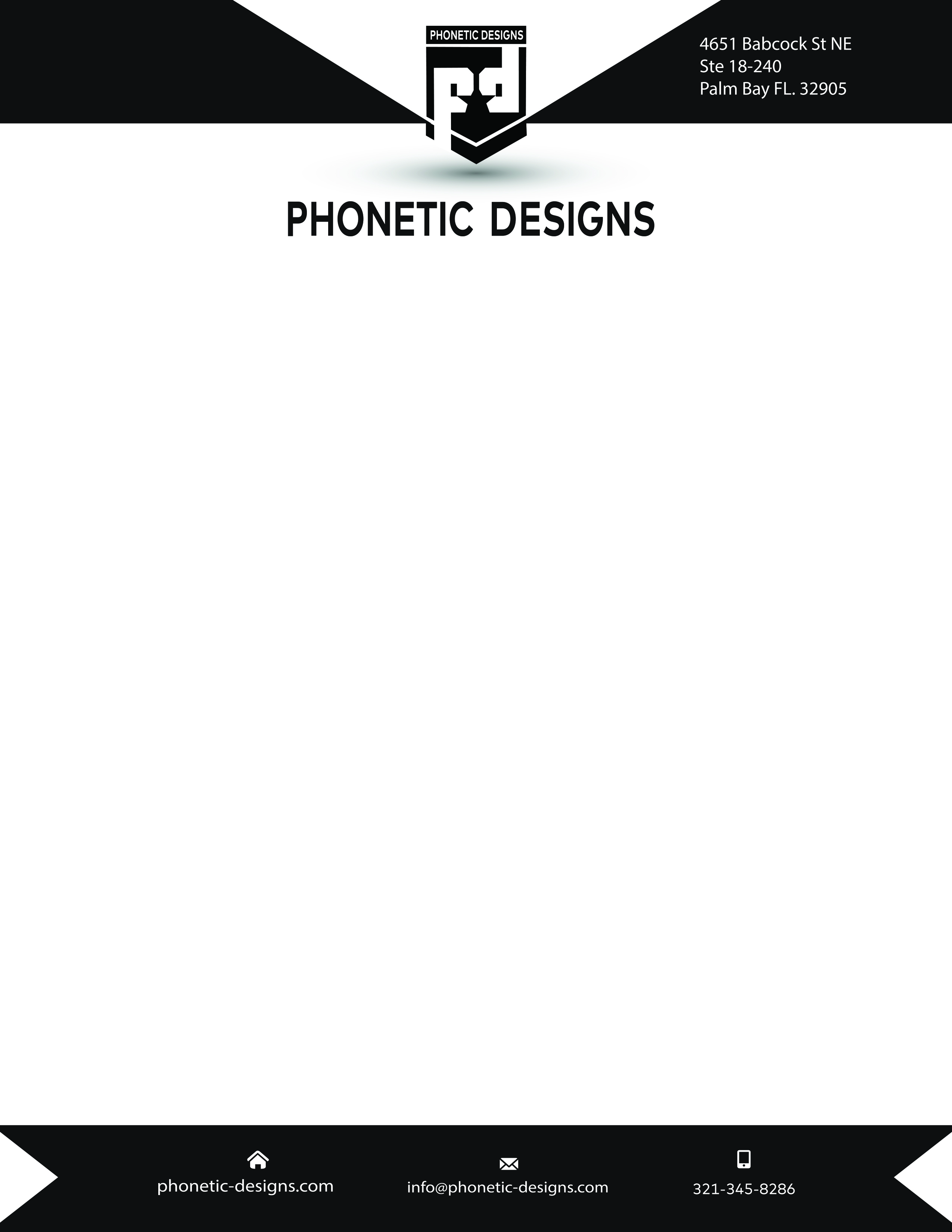 Business letterhead with a modern design